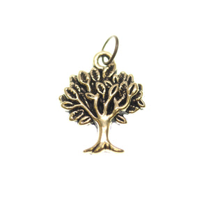 Antique Gold Tone Tree Of Life One Sided 17X21mm  - 2pcsCharm by Bead Gallery