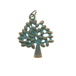 Patina Plated Tree One Sided 24X29mm  - 2pcsCharm by Bead Gallery