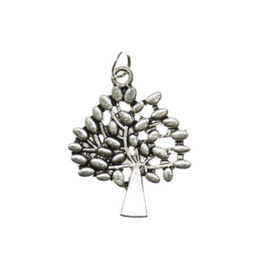 Antique Silver Plated Tree One Sided 24X29mm  - 2pcsCharm by Bead Gallery