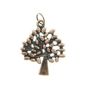 Antique Copper Tone Tree One Sided 24X29mm  - 2pcsCharm by Bead Gallery