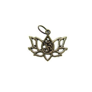 Antique Gold Tone Aum Lotus 16X20mm  - 2pcsCharm by Bead Gallery