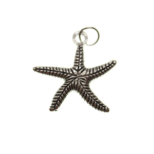 Antique Silver Plated Starfish One Sided 24mm  - 2pcsCharm by Bead Gallery