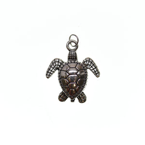 24mm, 24x28mm, 28mm, Antique Silver, Charm, Charm Bead, Charm Beads, Metal, Sea Turtle, Silver, Turtle