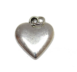 Antique Silver Plated Heart Charm 14x16mm  - 2pcsCharm by Bead Gallery