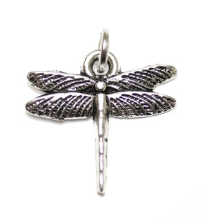 Charm, Charms, Silver Charm, Antique Charm, Plated Charm, Charm Bead, Charm Beads, Metal, Metal Charm, Silver, Silver Tone, Antique, Silver Tone Antique, Silver Tone Antique Charm, Dragonfly, Dragonfly Charm, 17x17mm, 17mm