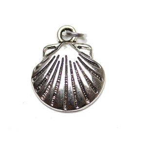 Charm, Charms, Silver Charm, Antique Charm, Plated Charm, Charm Bead, Charm Beads, Metal, Metal Charm, Silver, Silver Tone, Antique, Silver Tone Antique, Silver Tone Antique Charm, Scallop , Scallop Charm, 14x17mm, 14mm, 17mm