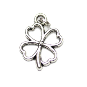 Antique Silver Plated Four Leaf Clover Charm 14x20mm  - 2pcsCharm by Bead Gallery