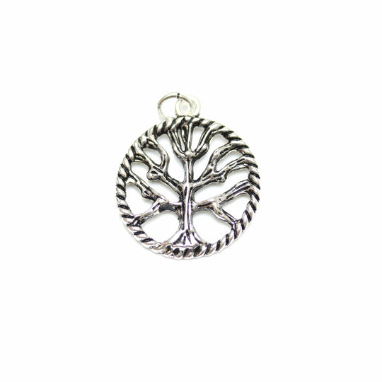Antique Silver Plated Tree of Life Charm 21mm  - 2pcsCharm by Bead Gallery