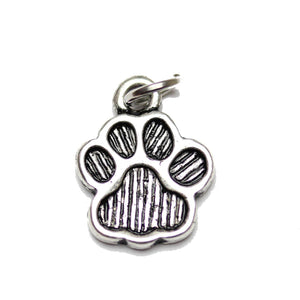 Charm, Charms, Silver Charm, Antique Charm, Plated Charm, Charm Bead, Charm Beads, Metal, Metal Charm, Two sided, Two sided Charm, Silver, Silver Tone, Antique, Silver Tone Antique, Silver Tone Antique Charm, Dog Paw, Dog, Paw, Animal, Dog Paw Charm, Dog Charm, Paw Charm, Animal Charm, 11x15mm, 11mm, 15mm