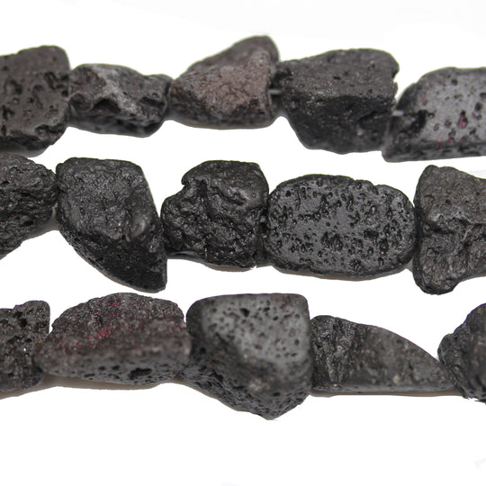 Black Lava Stone Nugget 13mm  approx.