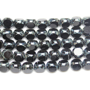Black 8mm Czech Glass 3 Cut Beads