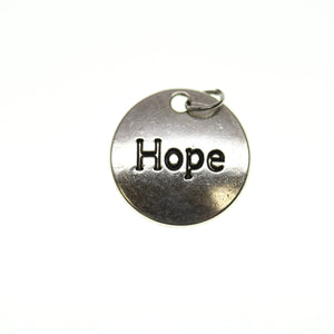 20mm, Antique Silver, Charm, Charm Bead, Charm Beads, Hope, Metal, Silver