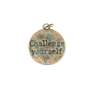 Patina plateado Challenge Yourself 21mm - 2pcsCharm by Bead Gallery