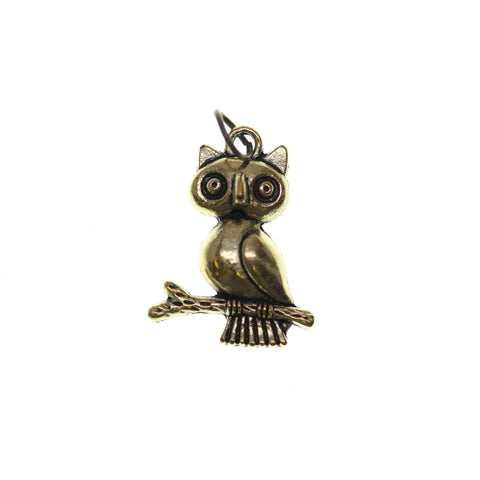 18mm, 18x23mm, 23mm, Antique Gold, Charm, Charm Bead, Charm Beads, Gold, Metal, Owl
