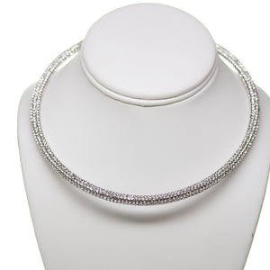 Crystal AB Rhinestone Open Back Necklace
