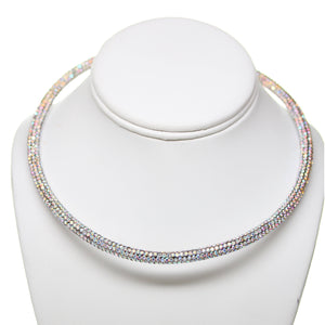 Crystal Rhinestone Open Back Necklace