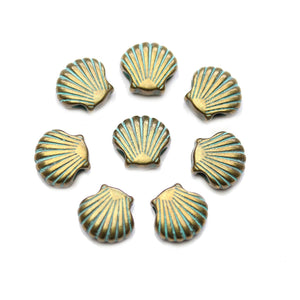 Patina Metal Top Hole Shell 12mm BeadsBeads by Halcraft Collection