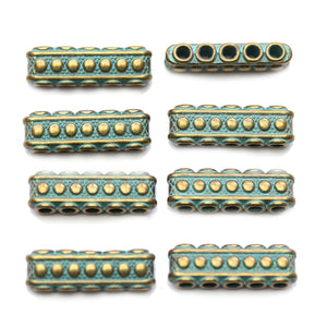 Deslizadores de metal Patina Rectangular de 7x23 mm de Halcraft Collection