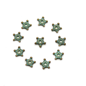 Patina Metal Rondell 1.5x7mm BeadsBeads by Halcraft Collection