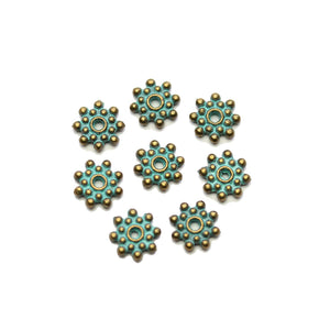 Patina Metal Rondell 2x8mm BeadsBeads by Halcraft Collection