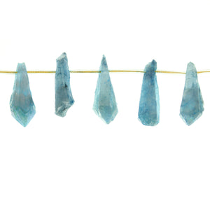 Aqua Dyed Quartz Stone Drop 7x30mm Aprox.