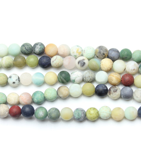 Mixed Stone Round Matt 6mm