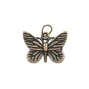 Mariposa antigua en tono cobre 16X22mm - 2pcsCharm by Bead Gallery