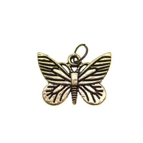 16m, 16x22mm, 22mm, Antique Gold, Butterfly, Charm, Charm Bead, Charm Beads, Gold, Metal