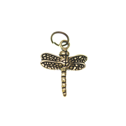 15mm, 15x19mm, 19mm, Antique Gold, Charm, Charm Bead, Charm Beads, Dragonfly, Gold, Metal