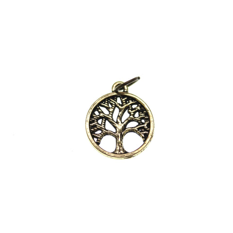 15mm, Antique Gold, Charm, Charm Bead, Charm Beads, Gold, Metal, Tree of Life