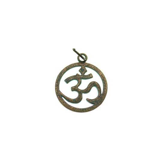 Patina Plated Aum Symbol 19mm  - 2pcsCharm by Bead Gallery