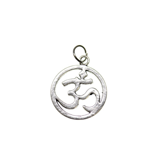 Antique Silver Plated Aum Symbol 19mm  - 2pcsCharm by Halcraft Collection