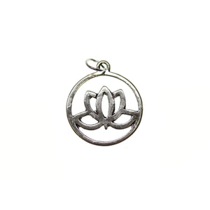 20mm, Antique Silver, Charm, Charm Bead, Charm Beads, Lotus Flower, Metal, Silver