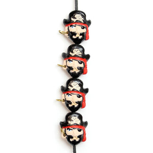 Peruvian Ceramic Pirate Bead 11x14mm