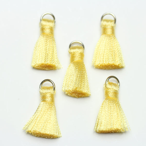 Yellow Small Tassel 13x20mm  - Tassel by Bead Gallery