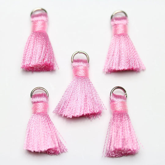 Pink Small Tassel 13x20mm Tassel by Halcraft Collection