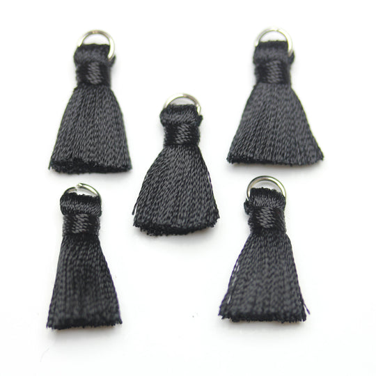 Black Small Tassel 13x20mm - Borla de Bead Gallery