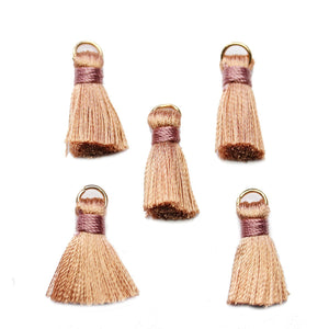 Dark Peach Small Tassel 13x20mmTassel by Halcraft Collection