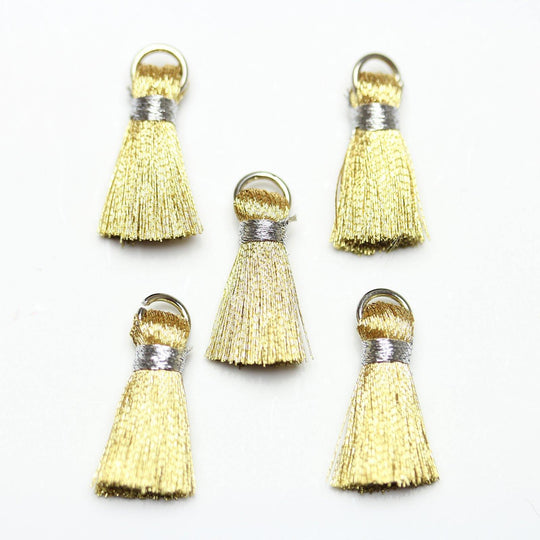 Gold Small Tassel 13x20mm - Tassel by Bead Gallery