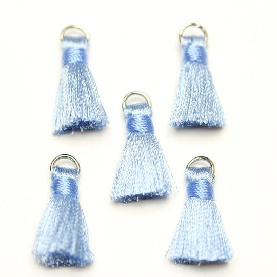 Light Blue Small Tassel 13x20mm - Tassel by Bead Gallery