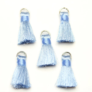 13mm, 13x20mm, 20mm, Blue, Charm, Cornsilk, Cotton, Light Blue, Metal, Tassel, Tassels