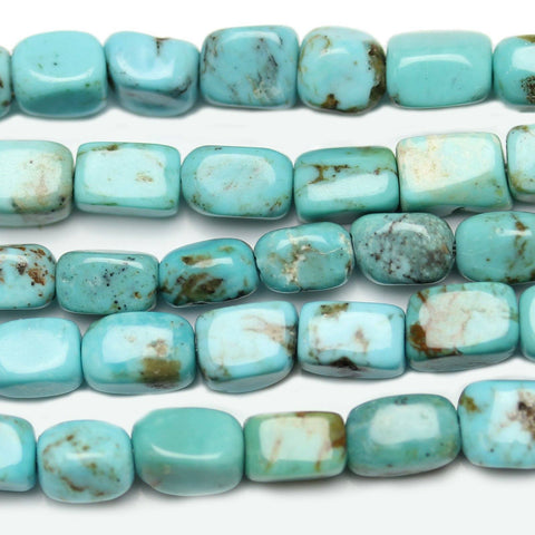 Kingman AZ USA Turquoise Semi Precious Stone Rectangle 4x6mm