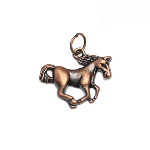 Charms, Charm, Charm Beads, Charm Bead, Copper Tone, Antique, Horse, Horse Charm, Horse Charms, Antique Copper, Copper, Metal, 16x20mm, 16mm, 20mm