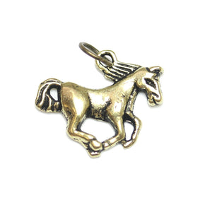 Charms, Charm, Charm Beads, Charm Bead, Gold Tone, Antique, Horse, Horse Charm, Horse Charms, Antique Gold, Gold, Metal, 16x20mm, 16mm, 20mm