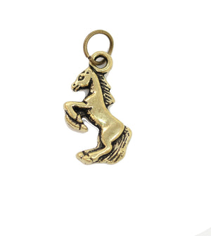 Caballo dorado antiguo 15X18mm - 2pcsCharm por Bead Gallery