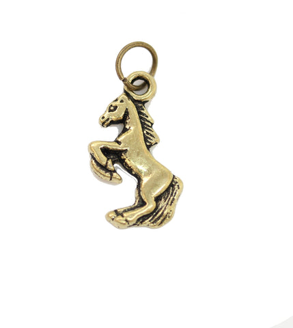 Charms, Charm, Charm Beads, Charm Bead, Gold Tone, Antique, Horse, Horse Charm, Horse Charms, Antique Gold, Gold, Metal, 15x18mm, 15mm, 18mm