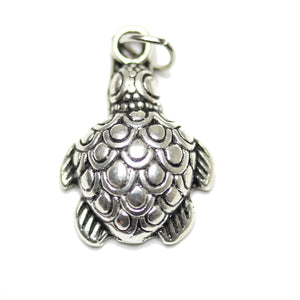 Charm, Charms, Antique Charm, Plated Charm, Charm Bead, Charm Beads, Metal, Metal Charm, Antique Silver, Silver, Antique Silver Charm, Silver Charm, Turtle, Turtle Charm, Turtle Charms, 15x16mm, 15mm, 16mm