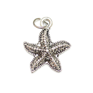 Charms, Charm, Charm Beads, Charm Bead, Plated, Antique, Starfish, Starfish Charm, Starfish Charms, Silver, Antique SIlver, Metal, 15mm