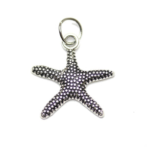 Charm, Charms, Antique Charm, Plated Charm, Charm Bead, Charm Beads, Metal, Metal Charm, Antique Silver, Silver, Antique Silver Charm, Silver Charm, Starfish, Starfish Charm, Starfish Charms, 18mm