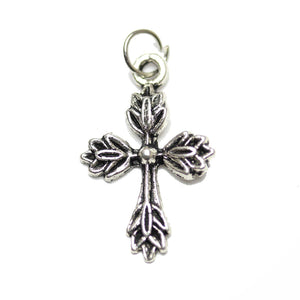 Charm, Charms, Antique Charm, Plated Charm, Charm Bead, Charm Beads, Metal, Metal Charm, Antique Silver, Silver, Antique Silver Charm, Silver Charm, Cross, Cross Charm, Cross Charms, 17x25mm, 17mm, 25mm